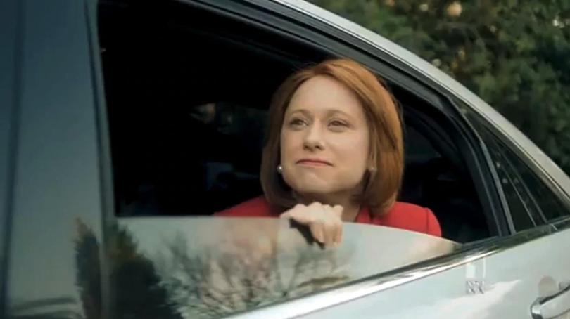 Amanda Bishop as Julia Gillard in a scene from 'At Home with Julia'