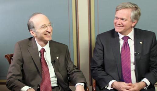 Professors Saul Perlmutter and Brian Schmidt