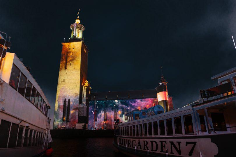 Stockholm Nobel Prize Week lights
