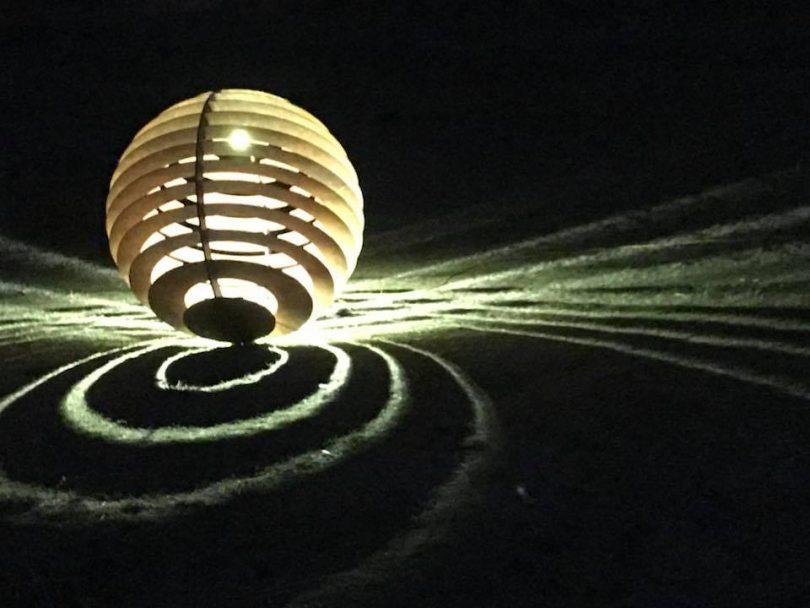 "Matt Hill's ""The Shadow Sphere"". Photo: Lisa Matthes."