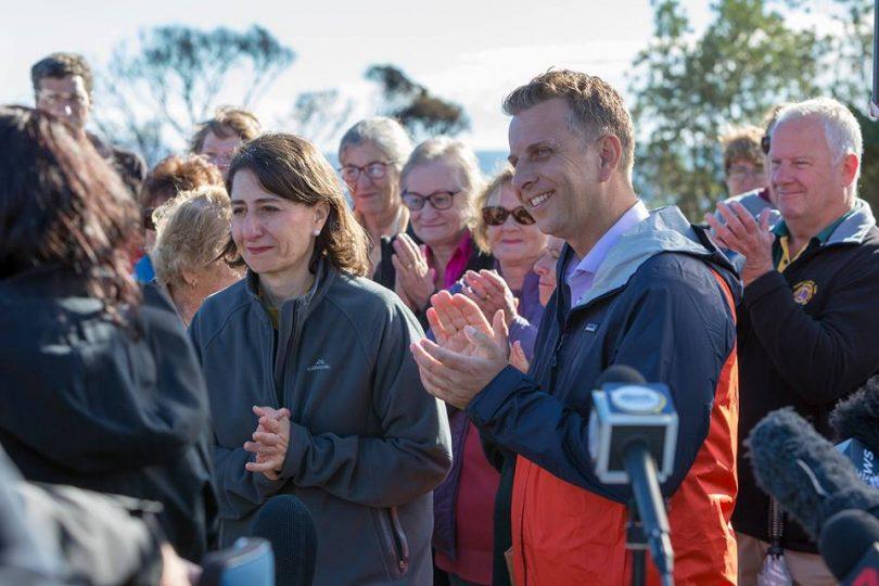 NSW Premier Gladys Berejiklian and Andrew Constance