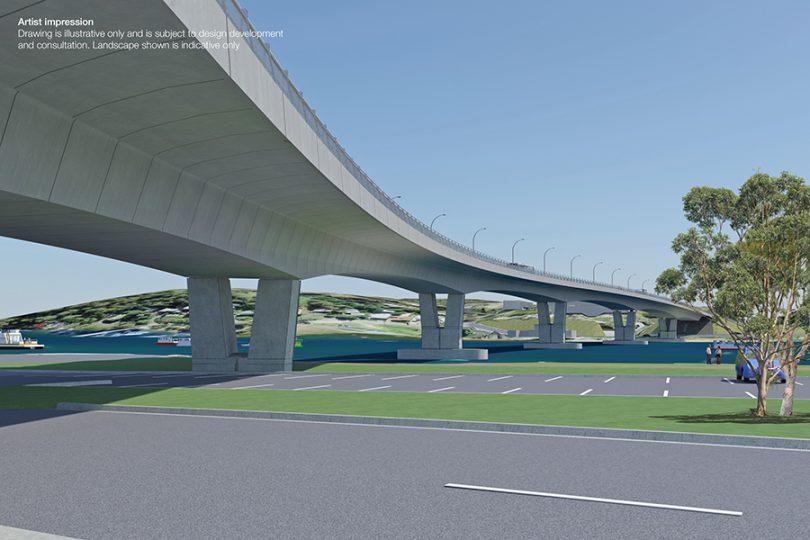 Artist's impression of Batemans Bay Bridge.