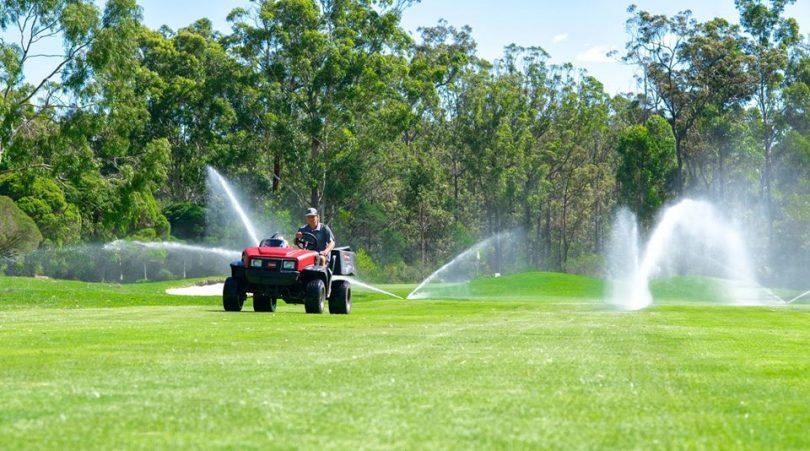 Pambula Merimbula Golf Club has 1000 sprinklers all irrigating from the Merimbula STP. Photo: BVSC