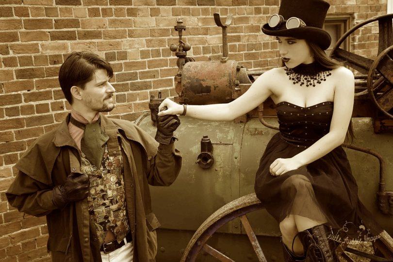 Steampunkers: Elegant fashion and whimsical gadgetry. Photo Beth Cole