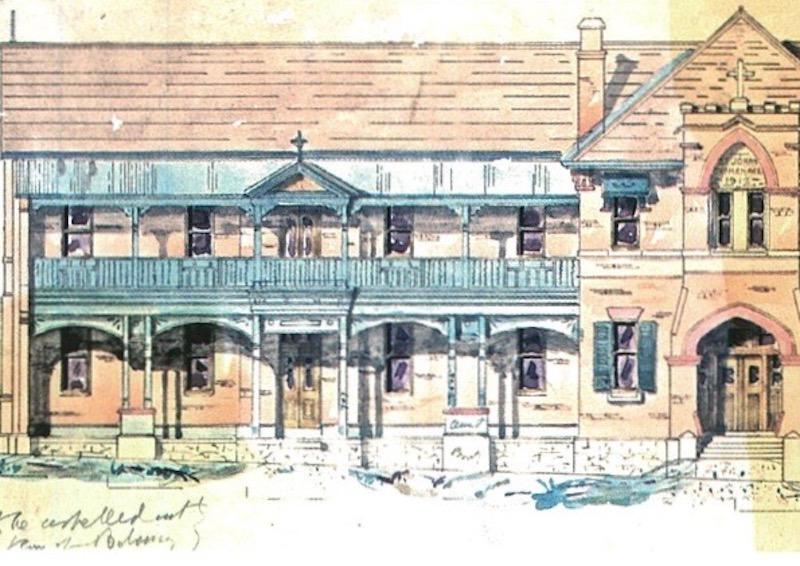 Historical artist's impression of St John's Orphanage in Goulburn