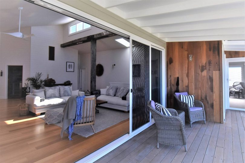 Pacific breezes and more living space, wide doors bring it inside. Photo: supplied