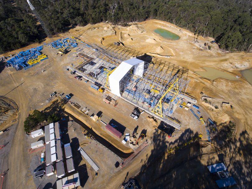 The precast facility near Mogo during construction. Photo: supplied.