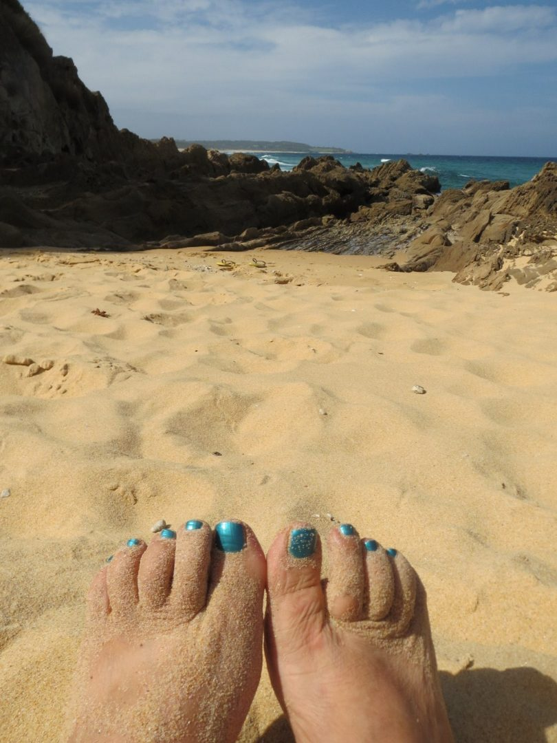 There's something wonderful about sand between your toes. Photo: Kathleen McCann.