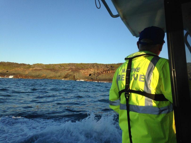 Marine Rescue Merimbula and Bermagui were part of the effort at sea. Photo: Marine Rescue Merimbula Facebook.