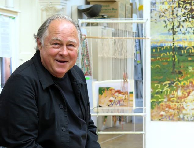 Imants Tiller, one of Australia's most well-known artists lives and works in Cooma. Photo: Facebook.