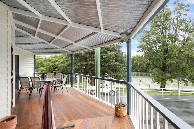 New hardwood decking for you to enjoy the village scene. Photo: Supplied