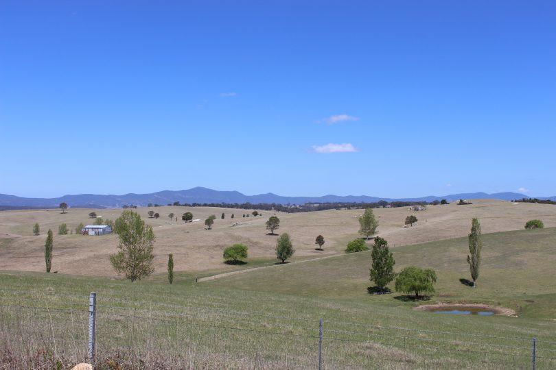 The dry hills around Candelo