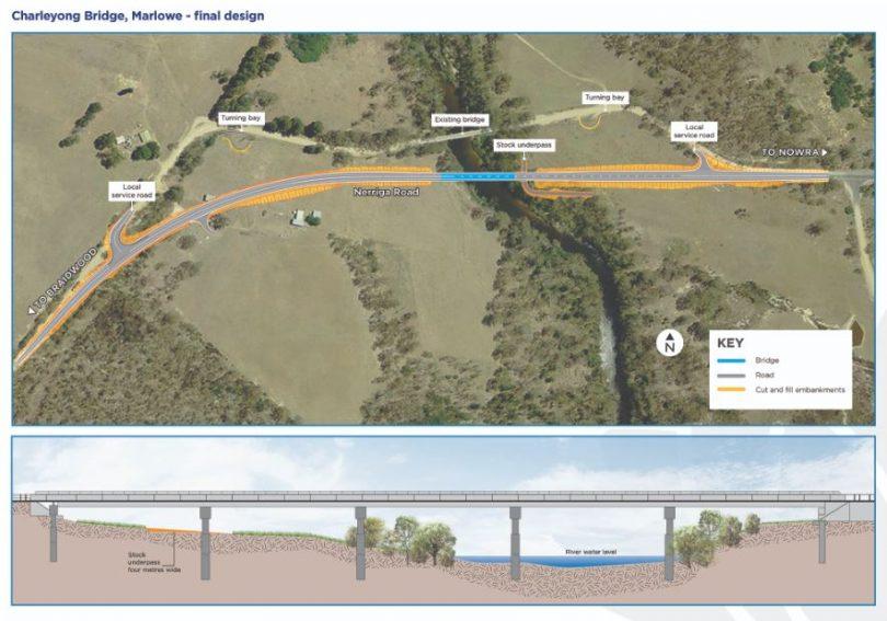 Designs for the new Charleyong Bridge