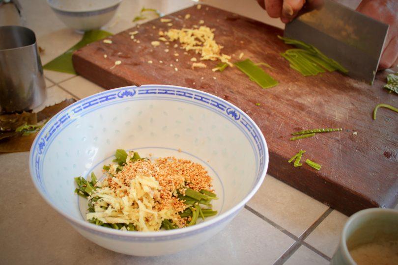 Golden kelp seaweed salad