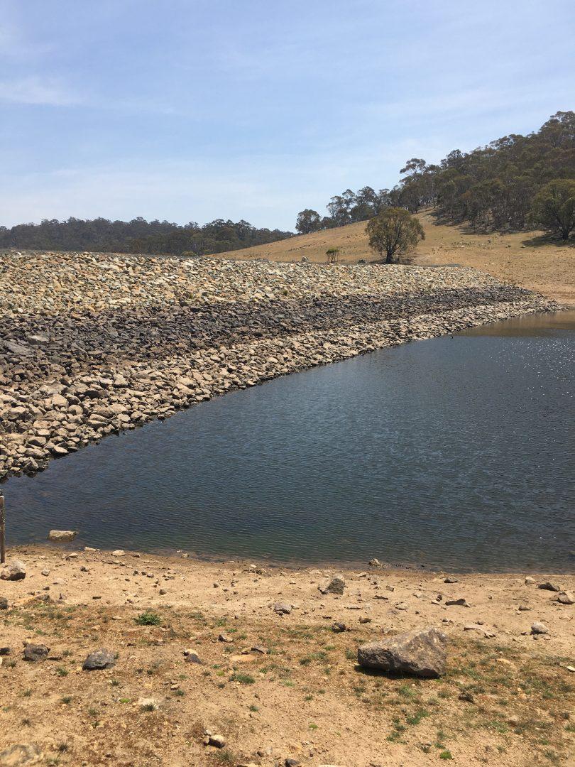 Nimmitabel's Lake Wallace Dam
