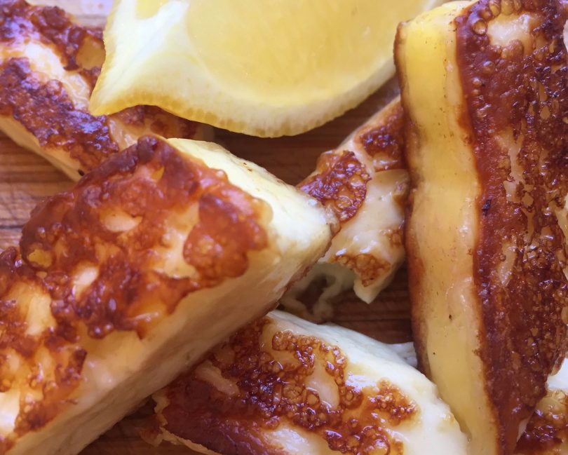 The proud moment, frying and eating your very own haloumi.