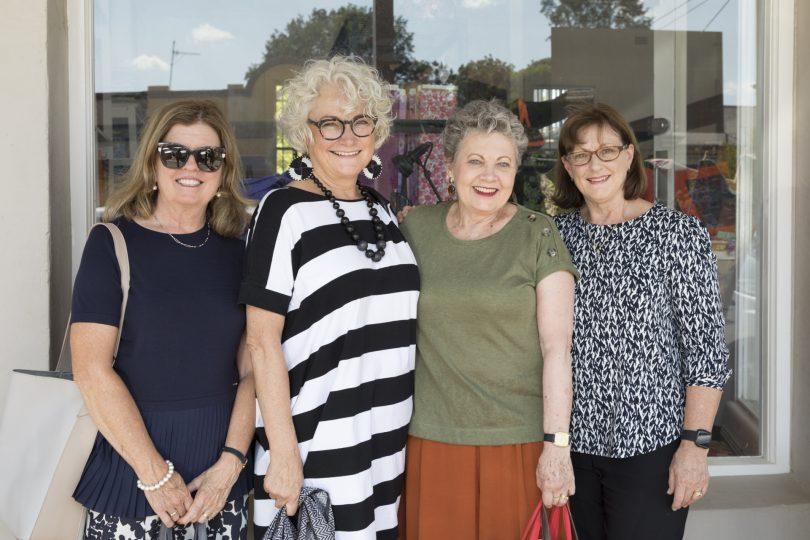Sue Whigham, Judith Barnes, Ros White and Heather Alexander