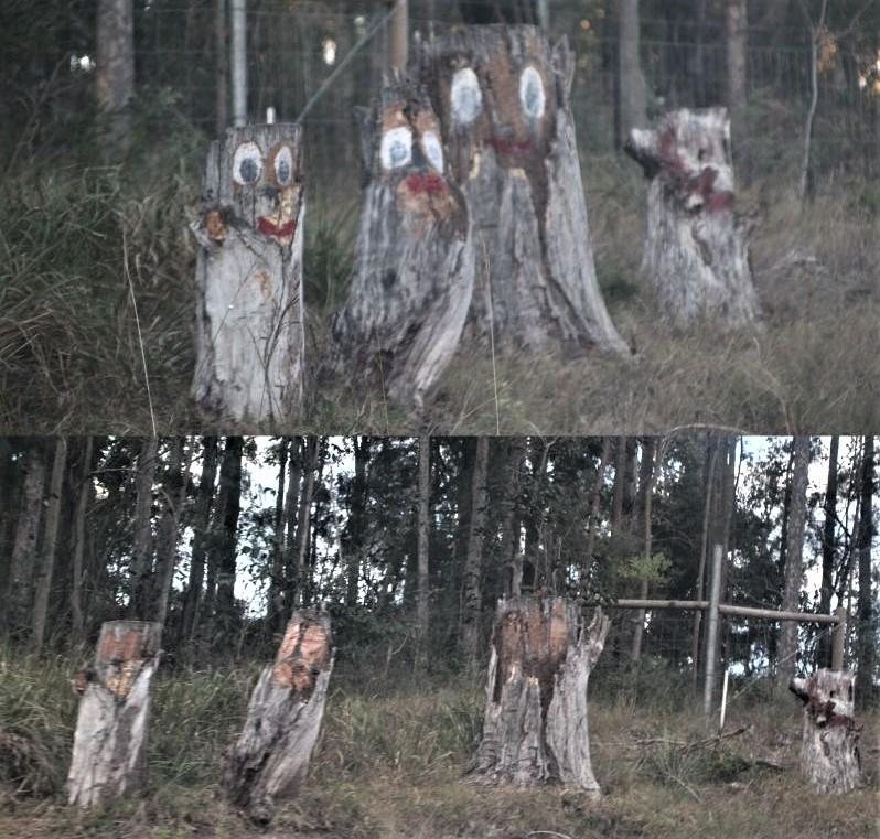 Vandalised Stumpy Family