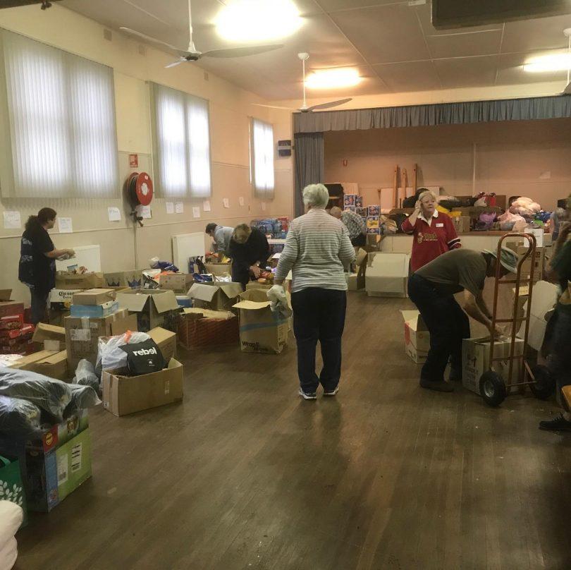 Volunteers working hard in Bodalla