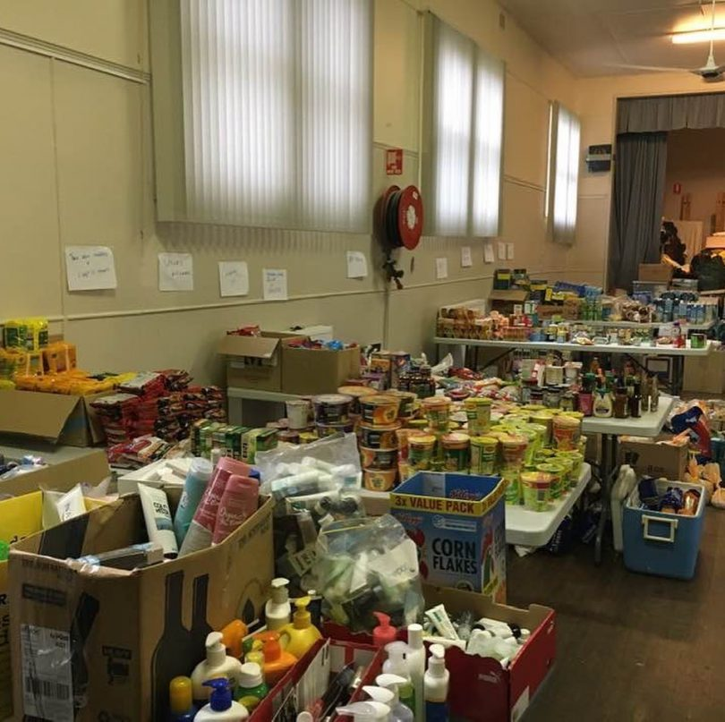 Perishable and non-perishable goods donated to Bodalla