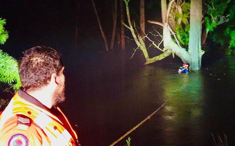 SES rescue man in the Brogo River