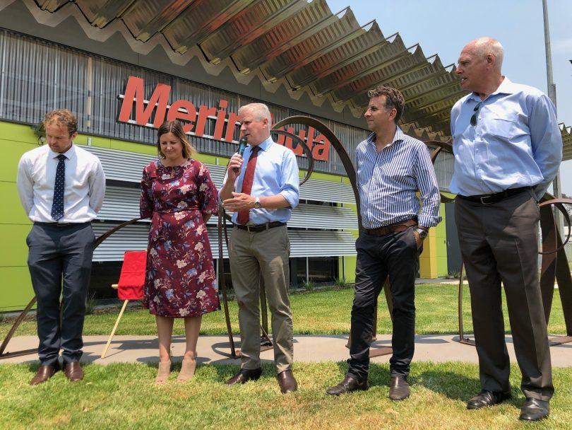 Anthony McMahon, Kristy McBain, Michael McCormack, Andrew Constance, NSW Senator Jim Molan