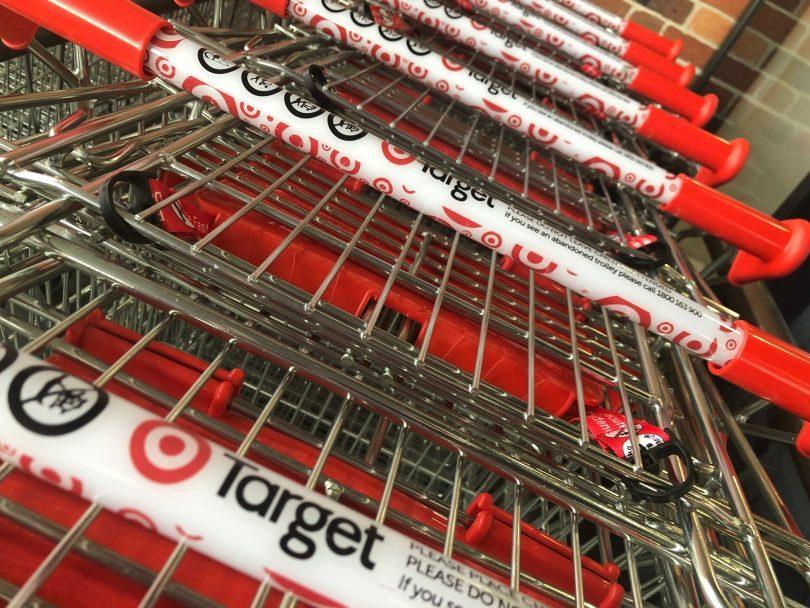 Target store trolleys.