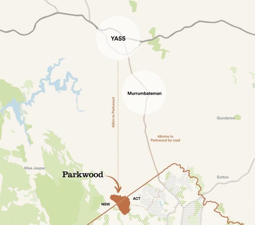Map of Parkwood development site.