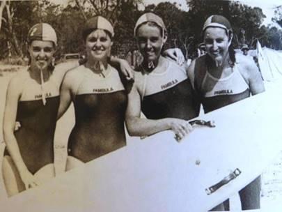 From left: Madeline MacMahon, Maureen MacMahon, Wendy Wait and Kerryn Granger, nee Wait.