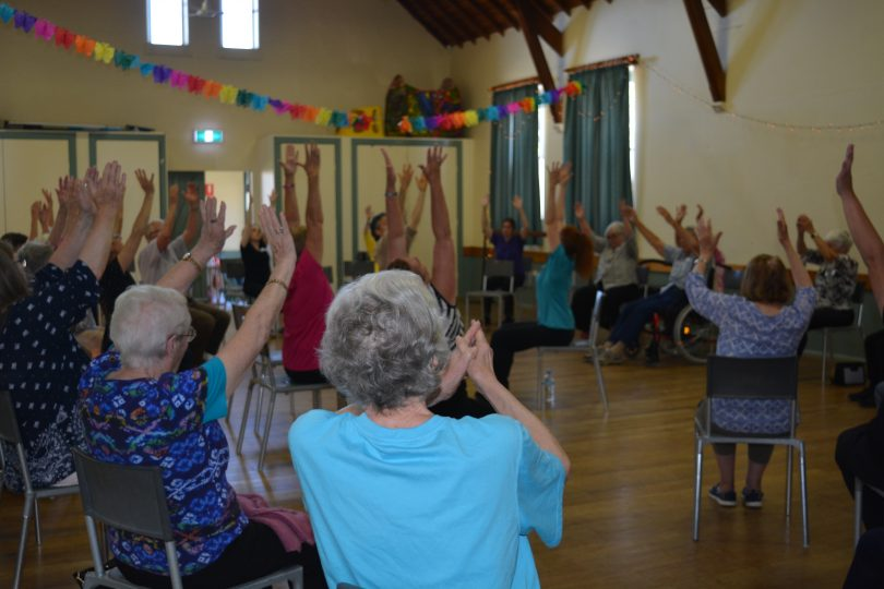 A Dance for Wellbeing class in action.