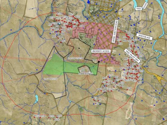 Overlay map of Yass Solar Farm development site.