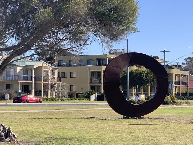 Batemans Bay Sculpture Walk installation.