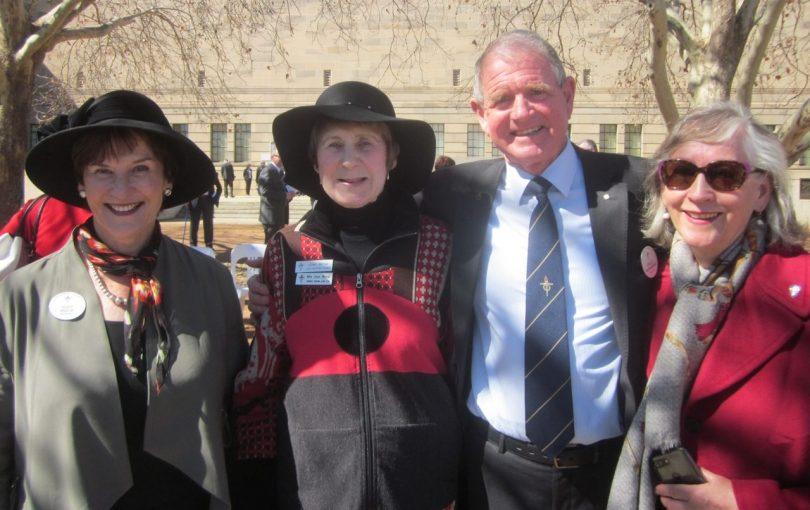 From left: Canberra Legacy president Judy Mack; Legatee Joan Birnie; Legatee Phillip McNamara; and Anne McNamara.