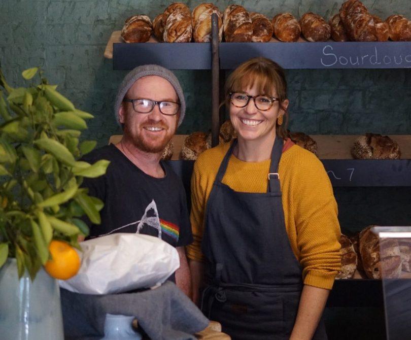 Adam Bantock and Brooke Sainsbery at Clementine Bakery.