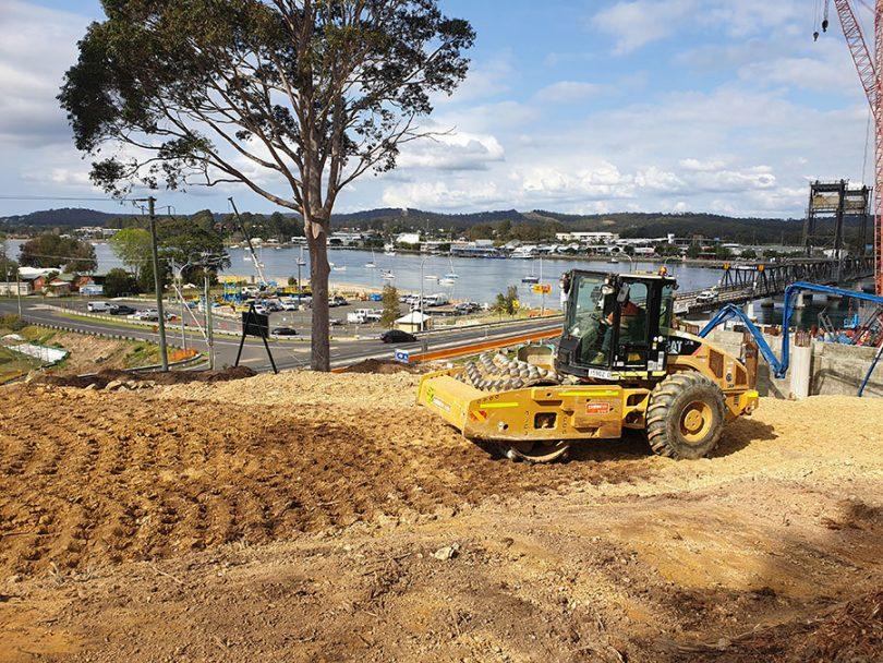 Batemans Bay Bridge construction