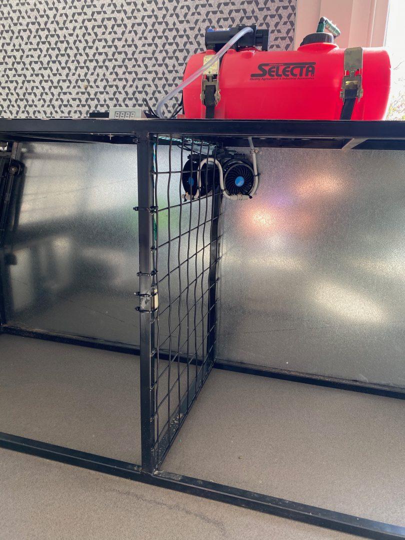 Dog box cooling system.
