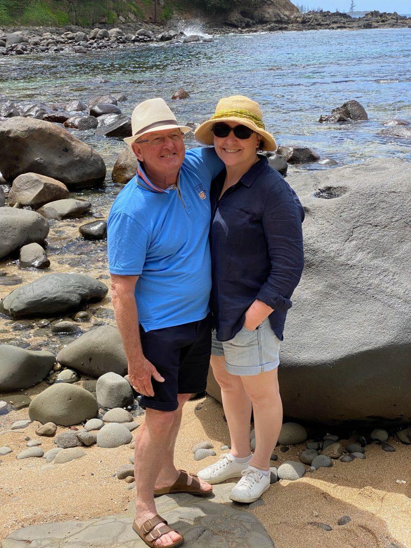 Chris and Robyn Jones on Norfolk Island.