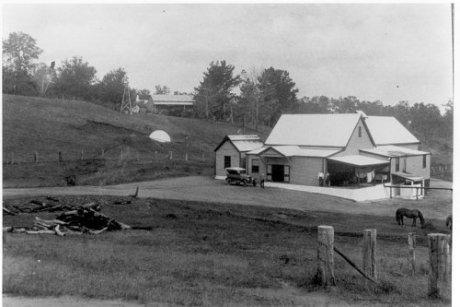 Undated historical photo of Niagara Cheese Factory.