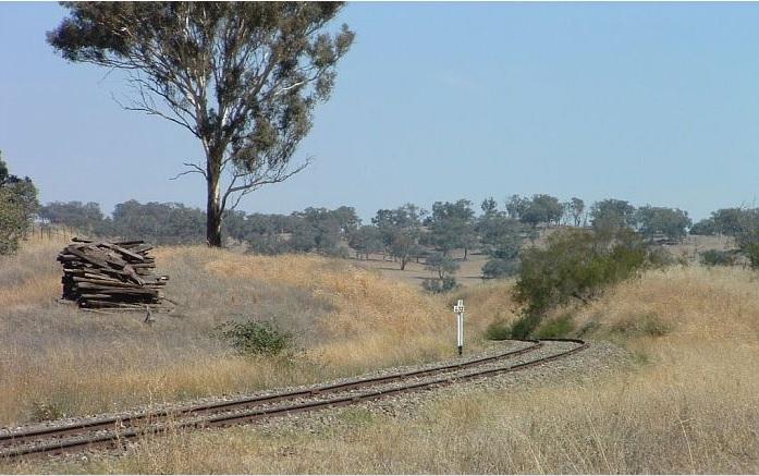 Railway line near Maimuru.