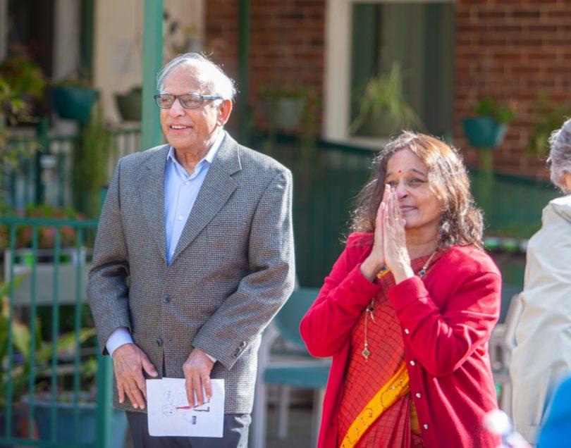 Dr Ramaswamy Thangavelu and his wife, Chandra