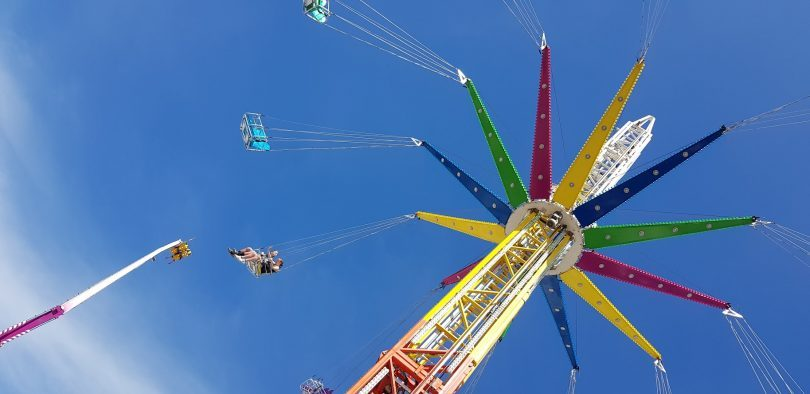Carnival ride at Royal Canberra Show.