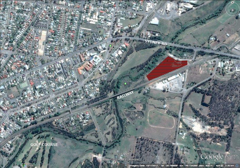 Aerial overlay image of Goulburn Solar Farm site.