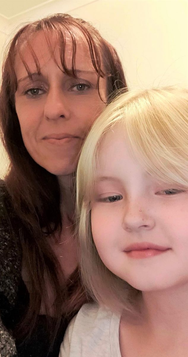 Karina Benton, of Bateman's Bay and one of her daughters. Photo: Supplied