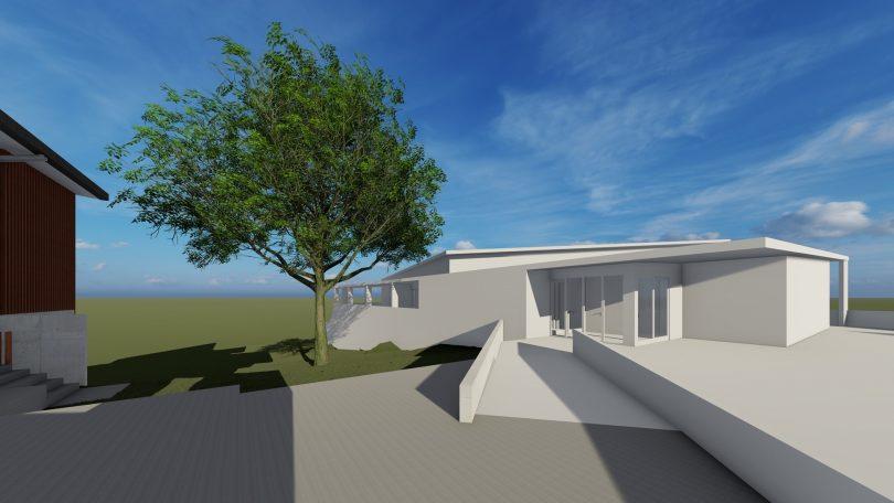 Artist's impression of new hall at Yass High School.