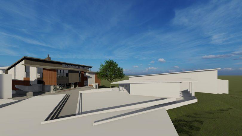 Artist's impression of new multipurpose hall at Yass High School.