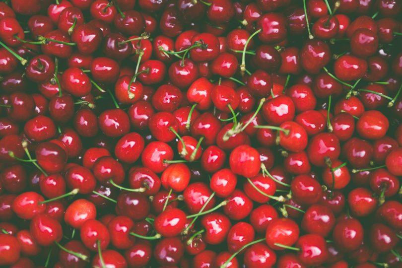 Hundreds of fresh cherries.