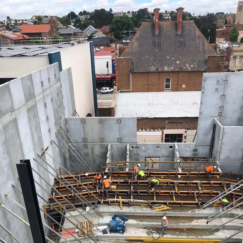 Goulburn Performing Arts Centre under construction