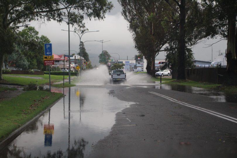 Flooding across Vulcan Street,