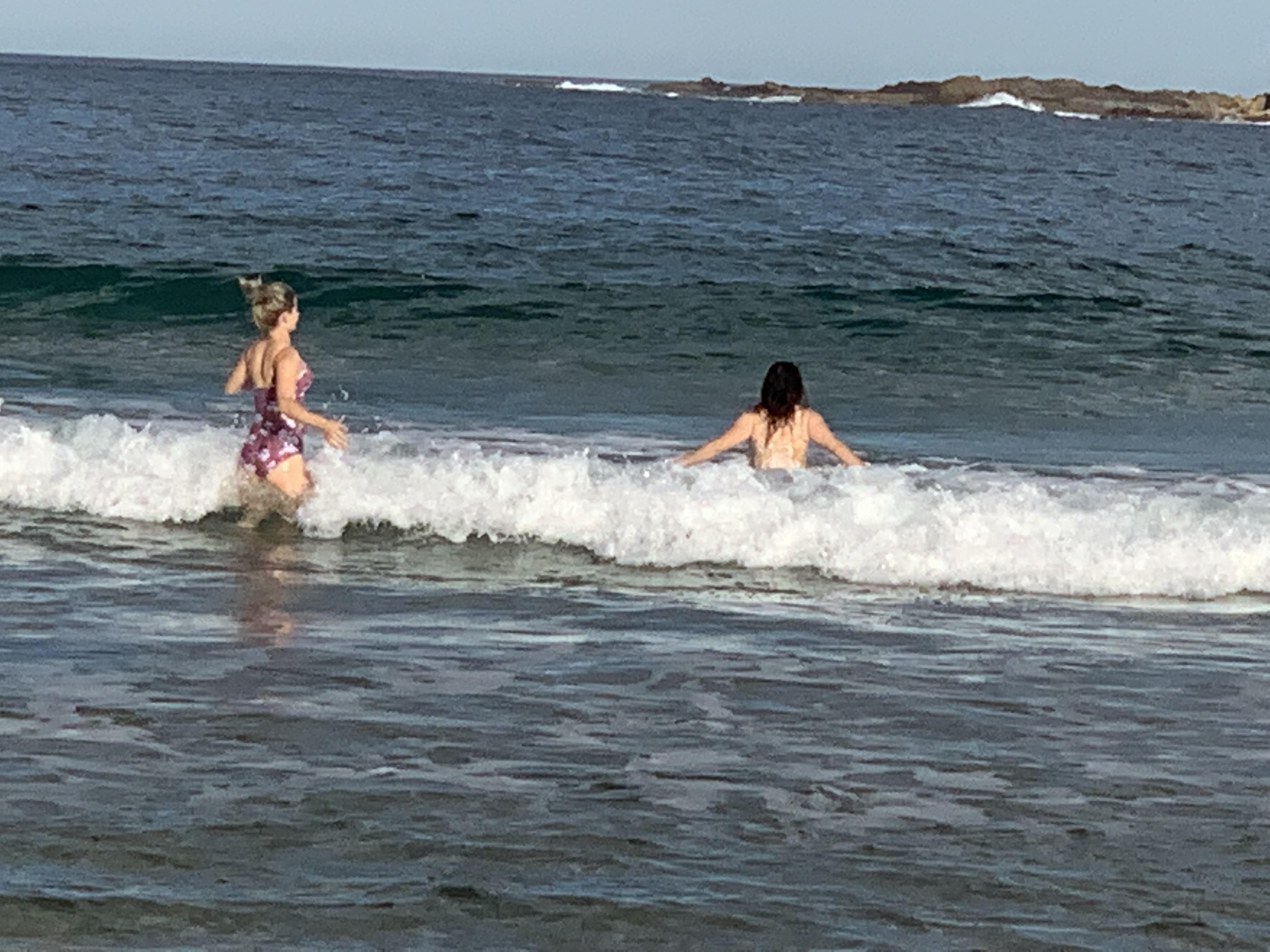 Beach-goers enjoy the relative solitude of Rosedale Beach. Photo: Kim Treasure.