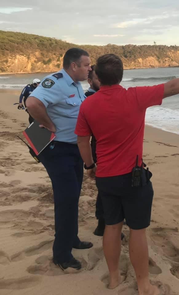 Chief Inspector John Sheehan at Richmond Beach